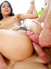Asian Babe Saya Song Takes 2 Big Dicks..