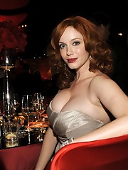Christina Hendricks hot boobs stills..