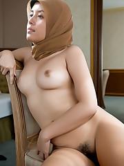 Hijap asian,New Muslim in Hijab,White..