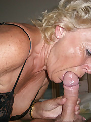 Granny  to play with her moist hairy..