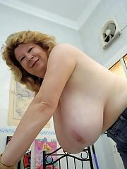 Mature yam-sized jug pics - Big tits
