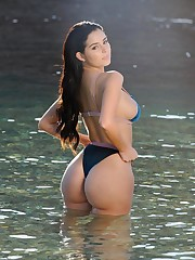 Demi Rose demonstrates her bum and..