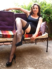 Amateur Crossed Gams with Stocking and..