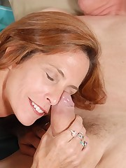 redhead mature Sherry gives a deep..