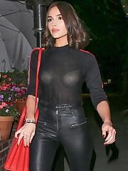 Olivia Culpo Observe Through Black Top..