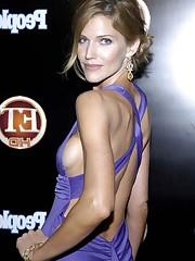 Tricia Helfer showcasing her nice..
