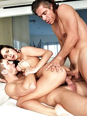 Filthy Ashley Adams got double fucked..
