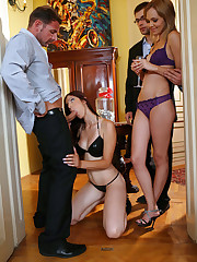 Ivana Sugar get 2 cocks at swingers party