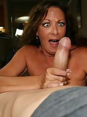 Margo Sullivan Cougar Makes Cock Spew..