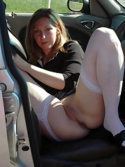 Nude huge-boobed wives in the cars -..
