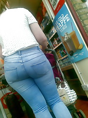 Woman with glasses and a BIG ASS in..