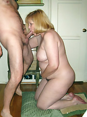 Mature wifey takes chisel in her mouth,..