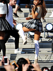 Ariana Grande Upskirt, Promoting ?My..