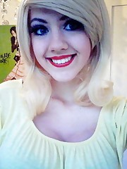 Emo teenage posing for facebook,..
