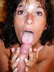 Edible old woman providing blow-job -..