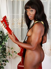 Black model Ana Foxxx from ATK Exotics..