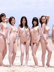 Hundreds bare women from over the world