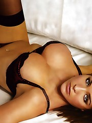 chicks lounging down lingerie Gemma..