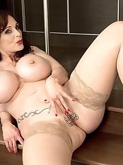 Breasty Michaela spunks hard - Mature..