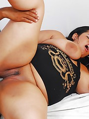 Lecherous latina plus-size blows and..
