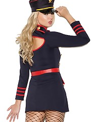 Fantastic womans Marine Army blue dress..