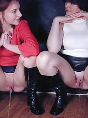 Literally crotchless panties pee porn..