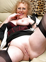 Horny Grannies In Stockings 46, Hot..