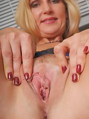 Splendid mature biz woman Yasmin sheds..