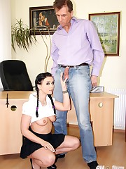 Charming coed Alena ravages with her..