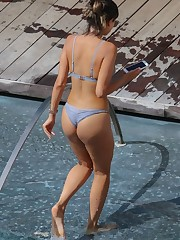 EIZA GONZALEZ in Swimsuit at a Pool in..