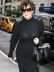 Kim Kardashian goes braless and shows..