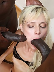 2 dark-hued cock lovers Gabriella Ross..