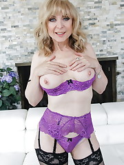 Nina Hartley-Purple Lingerie Black..
