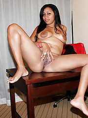 Totally nude ebony wives flashing vags