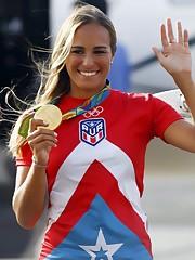 Mistrzyni olimpijska z Rio de Janeiro..