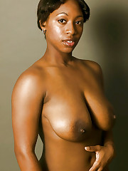 Wonderful saggy orbs - Ebony beauties..