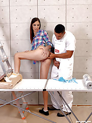 Nubile Demetris gets wood up the ass in..