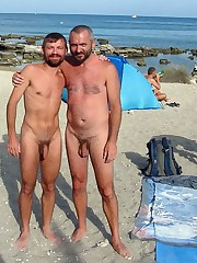 Handmade nude gay  on the beach