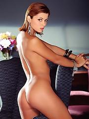 Top shelf redhead honey gets naked -..