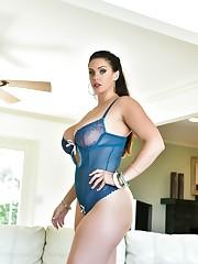 Huge-chested Alison Tyler Wearing Hoop..