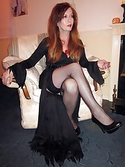 Long legged mature women in stocking..