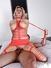 Wicked Cougar in freaky lingerie likes..