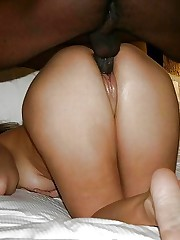 Big black cock wifey buttfuck internal..
