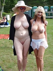 Naked boobs festival! Amateur women..