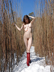 Erotic on snow with magnificent Vanessa G