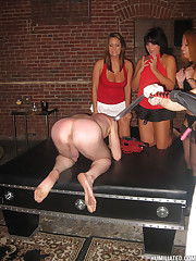 Fetish and slapping party at Humiliated