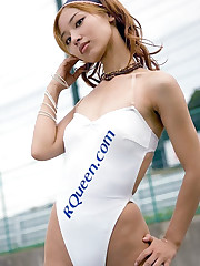 Beautiful Race Queens In White One..
