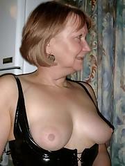 Older ladies showcase their nipples and..