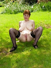 Sandy-haired wifey pummels with..