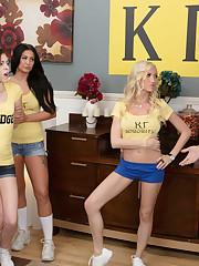 Wavy-haired blonde sorority whore..